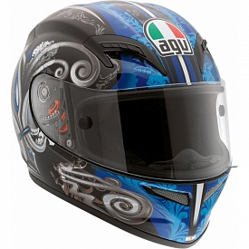 Мотошлем AGV Grid Stigma Blue XL